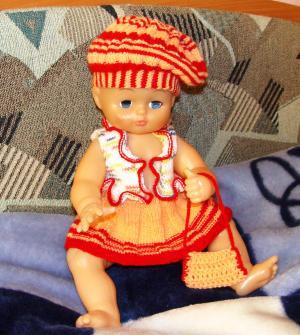 Для куклы из остатков