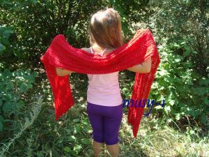 Палантины, Ажурное вязание