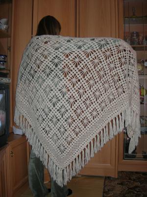 Шали, Вязание крючком