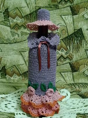 Одежда для бутылок, Ажурное вязание