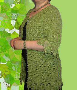 Зеленый кардиган