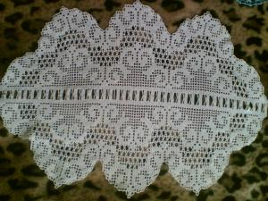 Дорожки, Филейное вязание