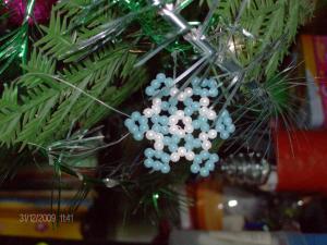 Новогодние украшения, Бисероплетение