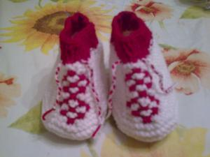 Обувь для детей, Вязание спицами