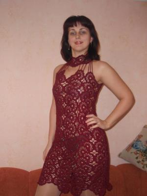 Платья, Ажурное вязание