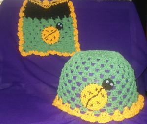 Прекрасная двойка , Детские шапки, шарфы