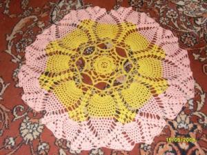 Желто-розовая салфетка