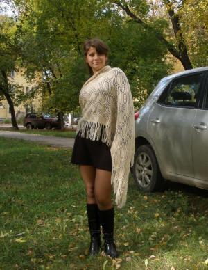 Ажурный платок-шаль