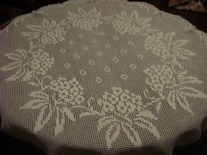 Скатерти, Филейное вязание