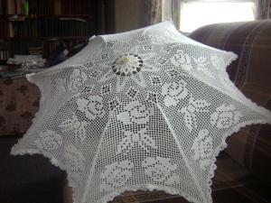 Зонты, Филейное вязание