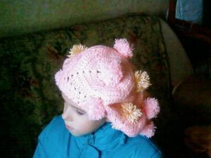берет с помпонами, Детские шапки, шарфы