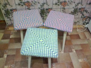 Чехлы на стулья, Вязание крючком