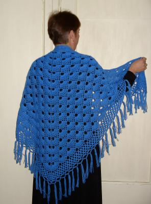 Шали, Ажурное вязание