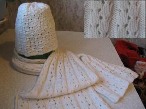 Комплект: шарф и шапка.