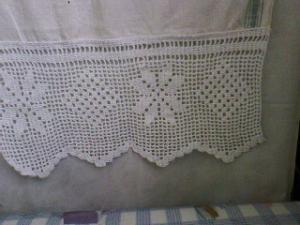 Кайма, Филейное вязание