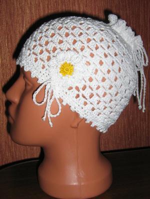 шапочка-утяжка под хвостик