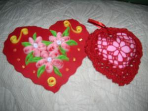 Валентинки, Ажурное вязание