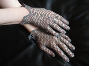 Перчатки, Ажурное вязание