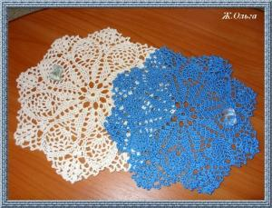Салфетки, Филейное вязание