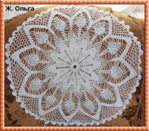 Салфетка (Филейное вязание), Филейное вязание