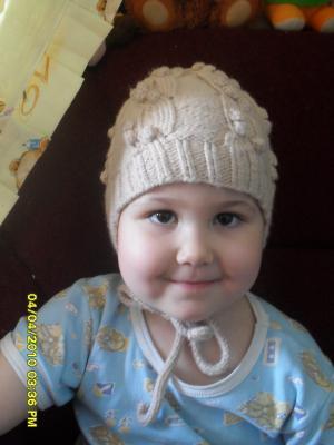 шапочка на девочку, Детские шапки, шарфы