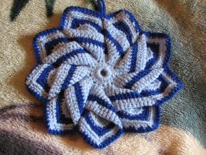 Прихватки, Ажурное вязание