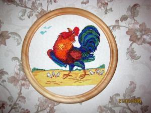 Петушок (вышивка крестиком)