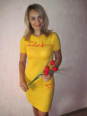 "Платье ""Кардиограмма любви"", Сердечки"