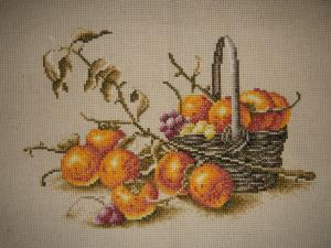 Осенний натюрморт (вишивка)