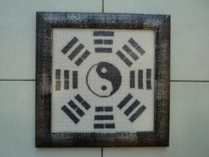 Символ равновесия и гармонии.бисер, 2 цвета, 150х150, Обереги
