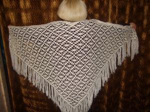 Шали, Вязание спицами