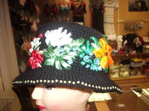шляпка, Вышивка лентами