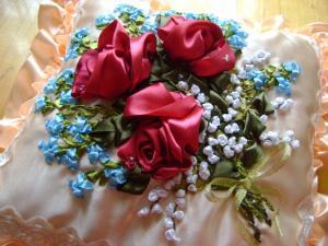 подушка букет с розами, Подушки
