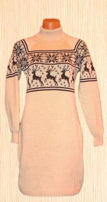 Платье-ситер с норвежским орнаментом, Звезды