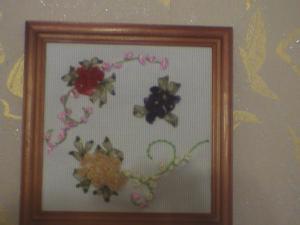 Цветочки (ленточками), Вышивка лентами
