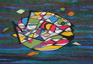 Рыба, тканый гобелен, Абстракция