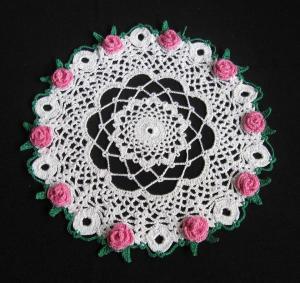 Блестящая салфетка с розами