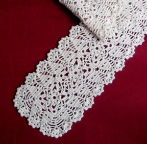Шарфики, Ажурное вязание