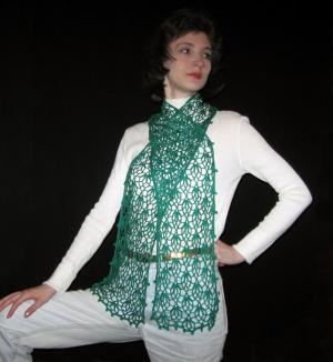 Ажурный шарф «Нежность»., Паутинка