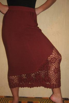 юбка со вставкой