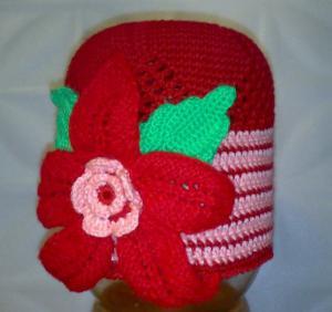 шапка с цветком, Шапки и шарфы