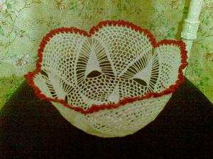 Вазы, Ажурное вязание