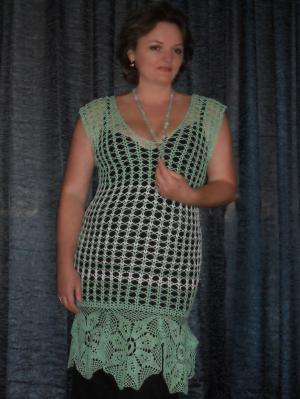 Ажукрное платье-туника, Платья