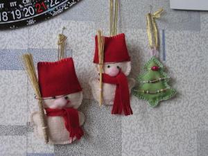 Новогодние украшения, Ажурное вязание